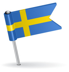 Swedish pin icon flag vector