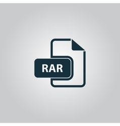 RAR file format icon vector image