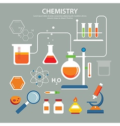 Chemistry background education concept flat design vector
