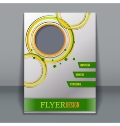 Vertical flyer template for design vector