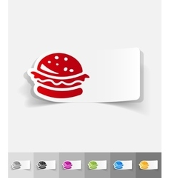 Realistic design element hamburger vector