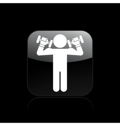 gym icon vector image