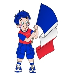 Fan with flag of france vector