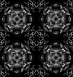 black tracery background vector image