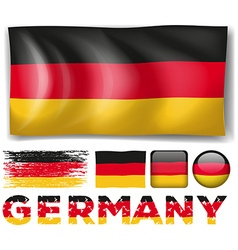 Germany flag in different designs vector image