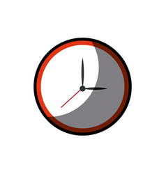 clock watch time element shadow vector image