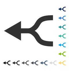 Combine arrow left icon vector