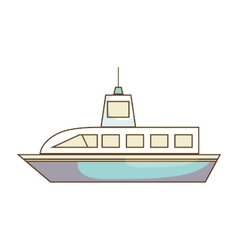 cruise ship isolated icon vector image vector image