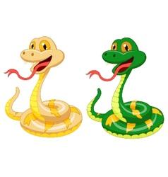 Cute snake cartoon vector image
