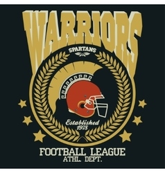 Football t-shirt Spartan Warrior vector image