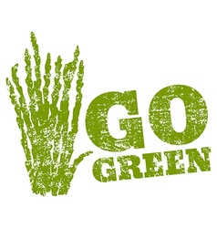 go green asparagus vector image vector image