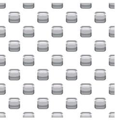 Gray square button pattern vector