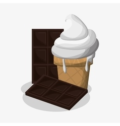 Ice cream and chocolate design vector