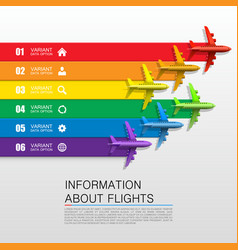 information about flights vector image vector image