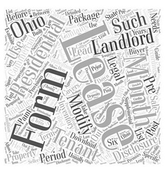 Legal forms for landlords in ohio word cloud vector