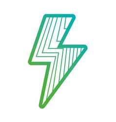 line energy hazard power symbol vector image vector image