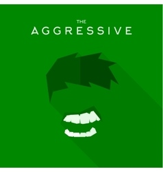 Mask aggressive villain flat style icon vector