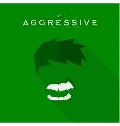 Mask Aggressive villain flat style icon vector image vector image