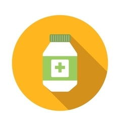 Medical container icon flat style vector image