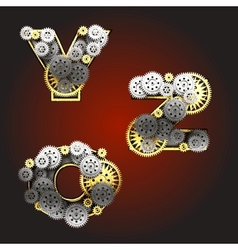 metal figure with gearwheels vector image