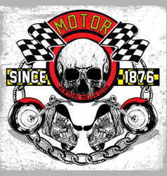 motorcycle t-shirt graphic vector image