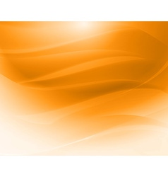 Orange abstract waves vector image vector image