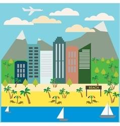 Resort Town Landscape vector image vector image