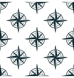 Seamless pattern with nautical compasses vector
