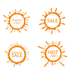 summer sale label set vector image