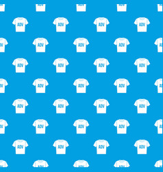 t-shirt with print adv pattern seamless blue vector image vector image