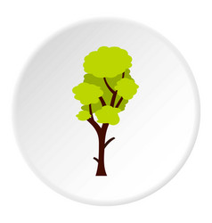 Tall green tree icon circle vector