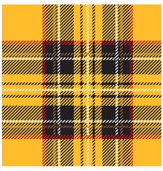 Traditional Seamless Yellow Tartan Pattern vector image vector image