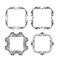 vintage style square frames collection decorative vector image vector image
