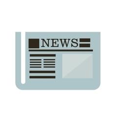 news newspaper icon design vector image