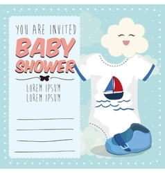 Baby shower invitation card design vector