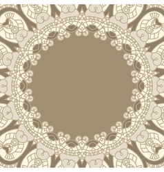 Ornamental round pattern vector