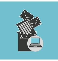 Notebook computer messaging marketing vector