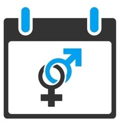 Marriage calendar day toolbar icon vector