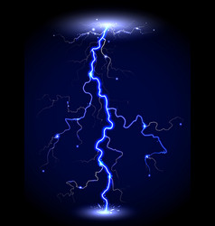 Transparent lightning vector
