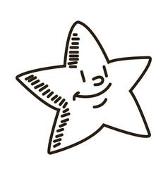 smiling little star cartoon character image vector image