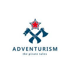 Adventurism pirate tales logo vector
