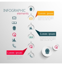 Set of abstract 3d paper infographic elements for vector