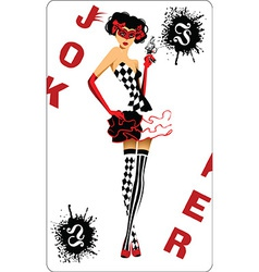 Joker card design vector