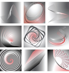 graphic backgrounds set vector image