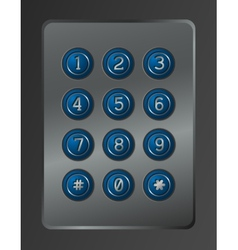 Digital dial plate of security lock vector