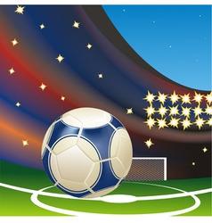 football stadium vector image