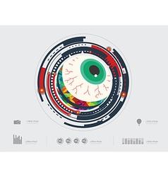 eyecircle2 vector image