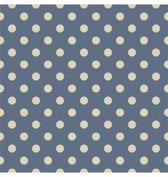 Tile pattern with grey polka dots on pastel blue vector image
