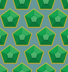 Emerald seamless pattern background of green gems vector