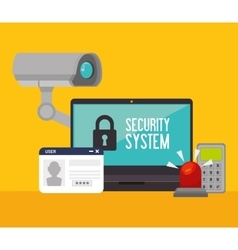 Surveillance security system vector